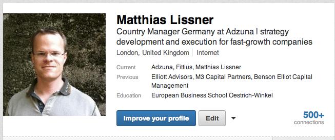 Profil-Titel bei LinkedIn