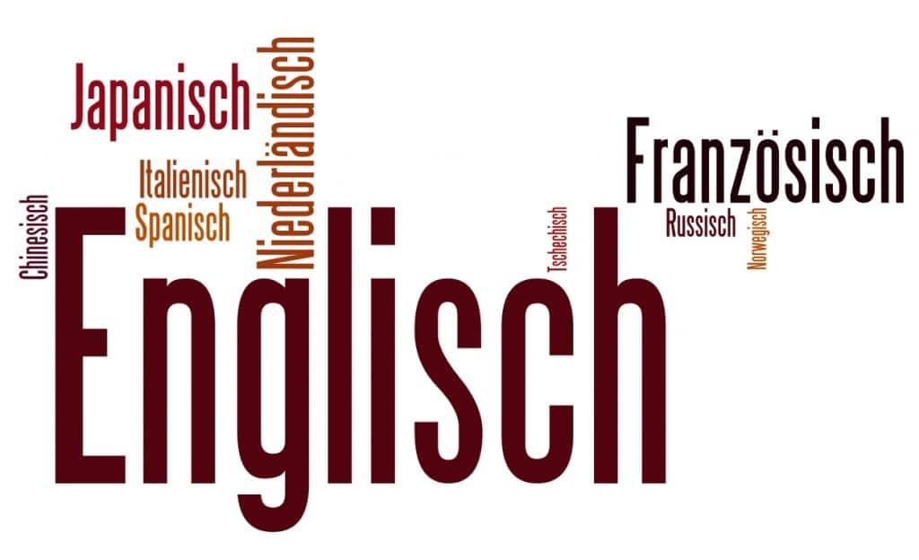 Beliebteste Fremdsprachen Word Cloud
